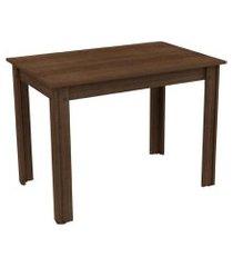 mesa madesa retangular para escritório com tampo de madeira 5258b marrom