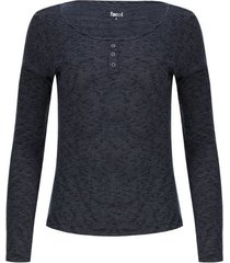 camiseta mujer textura con pechera color azul, talla 14