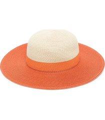 molo two-tone wide-brim hat - orange