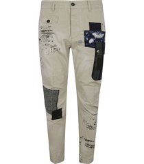 dsquared2 patched sexy cargo trousers
