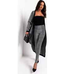 akira check me out long knit belted cardigan