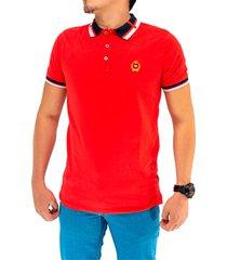polo hombre moda rojo manpotsherd ref: classic