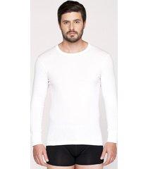 camiseta manga larga algodon blanco kayser