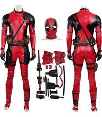 deadpool wade wilson cosplay costume superhero halloween party battle suit