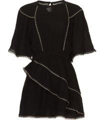 jurk met metalen details zavora  zwart
