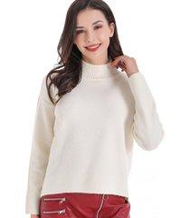 sweater cuello beatle corto blanco nicopoly