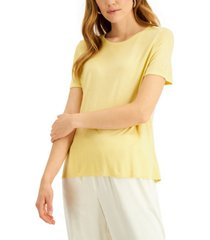 alfani petite knit t-shirt, created for macy's