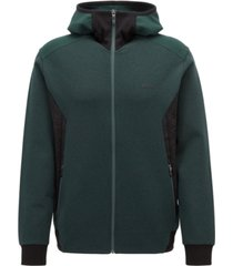 boss men's slim-fit stretch hoodie