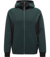 boss men's slim-fit stretch hoodie