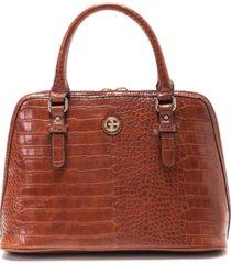 giani bernini croc dome satchel, created for macy's