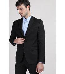 blazer masculino comfort com bolsos preto