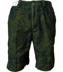 printed slacks bermuda shorts