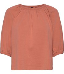 yasshani 2/4 tee - icon s. t-shirts & tops short-sleeved röd yas