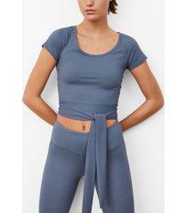 mango women's elastic top