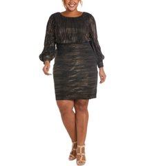 nightway plus size metallic dress