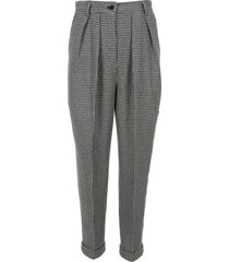 jw anderson houndstooth carrot trousers