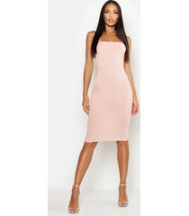 bandeau midi dress, blush