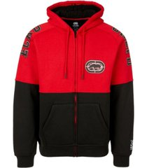 ecko unltd men's pieced together full zip sherpa hoodie