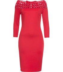 abito con scollo a barca (rosso) - bodyflirt boutique