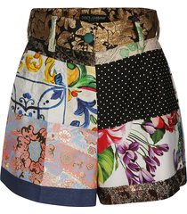 dolce & gabbana multi print shorts