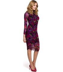 jurk makover k065 mesh jurk met ruches aan de zijkanten - model 2