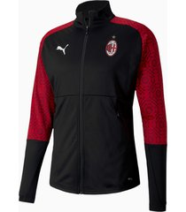 ac milan home stadium voetbaljack voor heren, rood/zwart, maat xs | puma