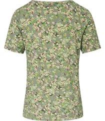 shirt met ronde hals en korte mouwen van mayfair by peter hahn multicolour