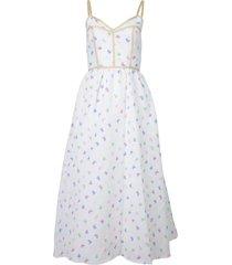 the undress midi dress rainbow white