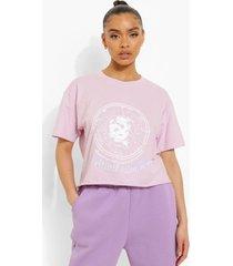 kort t-shirt met opdruk, lilac