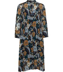 elm shirt dress aop 9695 jurk knielengte multi/patroon samsøe samsøe