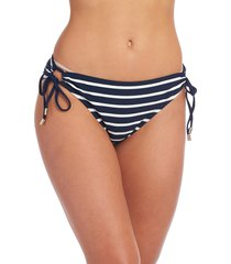 la blanca capri adjustable loop hipster bikini bottoms, size 12 in indigo at nordstrom