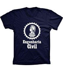 camiseta baby look lu geek engenharia azul marinho - azul - feminino - dafiti