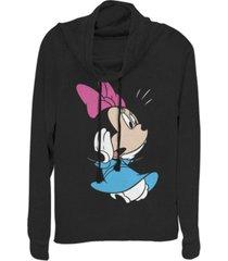 fifth sun juniors disney mickey classic minnie fleece cowl neck sweatshirt