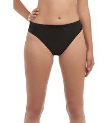 bikini calzón alto con pretina negro samia