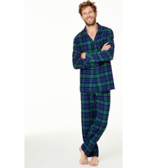 men's matching black watch plaid family pajama set, created for macy's