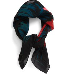 saint laurent palm wool scarf in bottle green at nordstrom