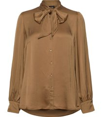 blouse long-sleeve blouse lange mouwen bruin taifun