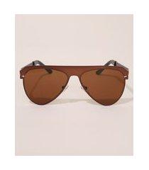 óculos de sol feminino aviador oneself marrom