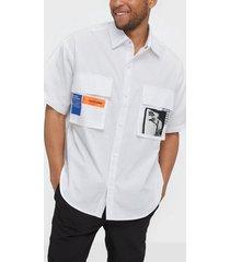 sixth june ads pocket shirt skjortor white