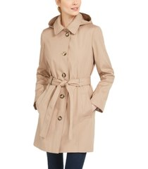 calvin klein hooded water-resistant trench coat