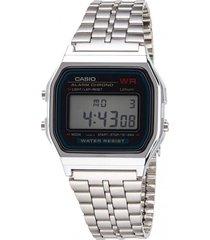 reloj retro plateado casio