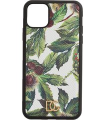 dolce & gabbana chestnut print iphone 11 pro max case - white