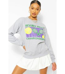 beverley hills tennis sweater, grey marl
