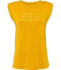 maglia con spalline imbottite (arancione) - bodyflirt