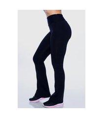 calça legging feminina bailarina poliamida preta - náo fica transparente