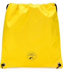 a.p.c. guitare poignard swim shoulder bag - yellow