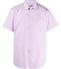 moschino classic-collar triangle-print shirt - pink