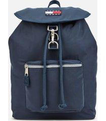 tommy jeans women's heritage nylon backpack - black iris
