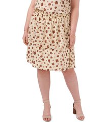 1.state double layer skirt, size 3x in floating leopard at nordstrom