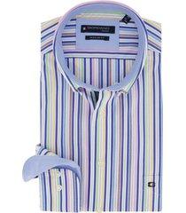 giordano overhemd gestreept regular fit